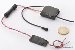 Microspia gsm nuovo modello con micro alimentatore per auto